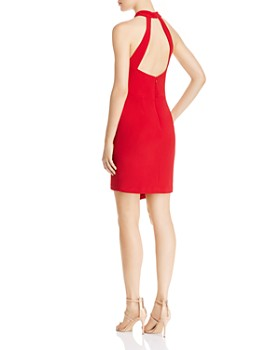 AQUA - Asymmetric Halter Dress - 100% Exclusive
