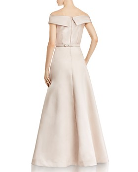 Eliza J - Belted Off-the-Shoulder Gown
