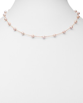 "Bloomingdale's - Pink Cultured Freshwater Pearl Choker Necklace in 14K Rose Gold, 18"" - 100% Exclusive"