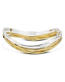 Robert Lee Morris Soho - Gold or Silver Plated Bangle Bracelets