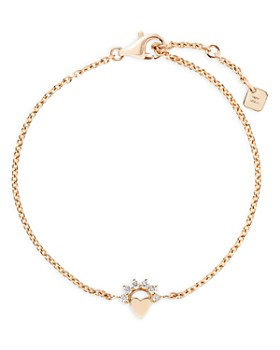 Nouvel Heritage - 18K Yellow Gold Mystic Diamond Small Love Chain Bracelet