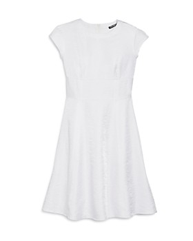 Miss Behave - Girls' Cap Sleeve Iridescent Fit-and-Flare Dress - Big Kid