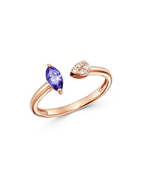 Bloomingdale's - Marquise Tanzanite & Diamond Ring in 14K Rose Gold - 100% Exclusive