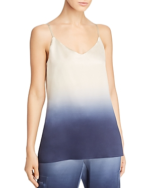 Lafayette 148 Eva Dip-Dyed Silk Camisole Top In Delft Multi