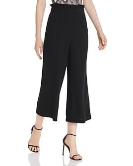 AQUA - Paperbag-Waist Cropped Pants - 100% Exclusive