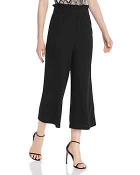 AQUA - Paperbag-Waist Cropped Pants - 100% Exclusive