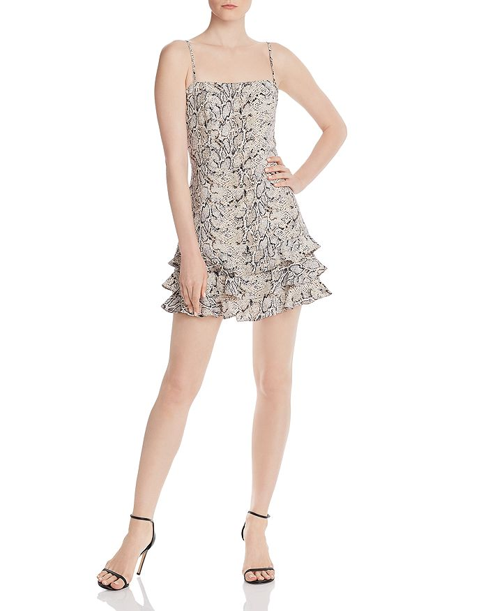 Bardot - Frilled Snakeskin Dress - 100% Exclusive