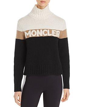 Moncler - Color-Block Turtleneck Logo Sweater