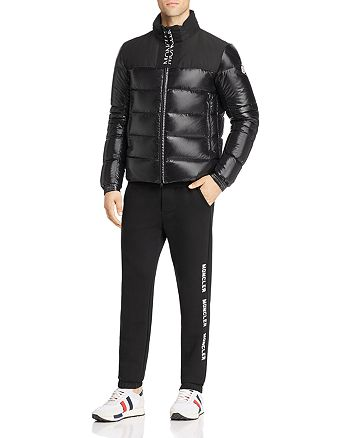 Moncler - Bruel Down Jacket, Color-Block Sweater and Logo Graphic Sweatpants