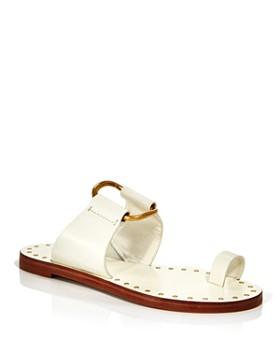 45f37e1b3e Tory Burch - Women's Ravello Studded Leather Slide Sandals ...