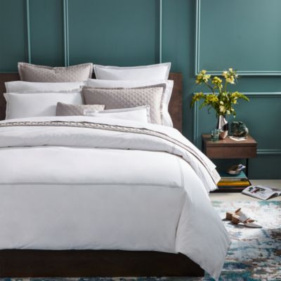 Hudson Park Italian Percale Stitch Twin Flat Sheet - 100% Exclusive