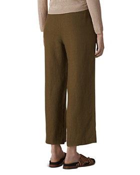 Whistles - Cropped Wide-Leg Linen Pants