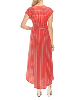 VINCE CAMUTO - Striped Tie-Front Maxi Dress