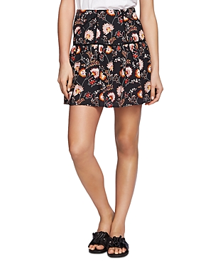 1.state Flounced Floral-Print Mini Skirt