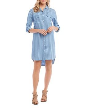 Karen Kane - Striped Button-Down Chambray Shirt Dress