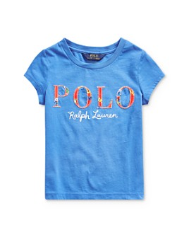 Ralph Lauren -  Girls' Appliquéd Logo Tee - Little Kid