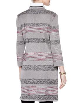 e2708d0e4dde04 ... Misook - Intarsia Patterned Knit Duster Jacket