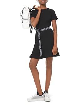 MICHAEL Michael Kors - Logo-Belt A-Line Mini Dress