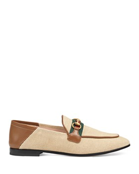 Gucci - Women's Horsebit Canvas Loafers