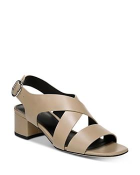 a48492acd Via Spiga - Women's Fallen Block Heel Sandals ...