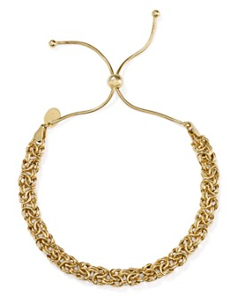 Argento Vivo - Woven Chain Adjustable Bracelet in 18K Gold-Plated Sterling Silver