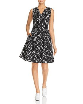 KARL LAGERFELD Paris - Polka Dot Pleated Dress