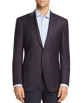 Canali - Siena Plaid Regular Fit Sport Coat - 100% Exclusive