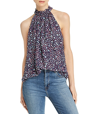 Ramy Brook Sleeveless Printed Silk Top