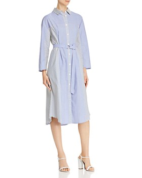 SJYP - Mixed-Stripe Cotton Shirt Dress
