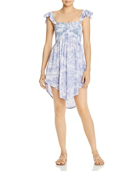 Tiare Hawaii - Hollie Smocked Tie-Dyed Mini Dress