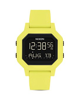 Nixon - Siren Rubber Strap Watch, 33mm x 38mm