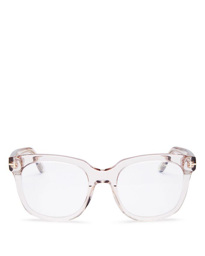 Tom Ford - Women's Square Blue Light Glasses, 52mm