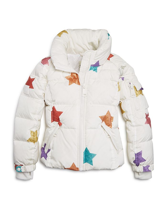 SAM. - Unisex Sparkly-Star Freestyle Jacket, Big Kid - 100% Exclusive