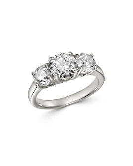 Bloomingdale's - Diamond Three-Stone Ring in 14K White Gold - 100% Exclusive