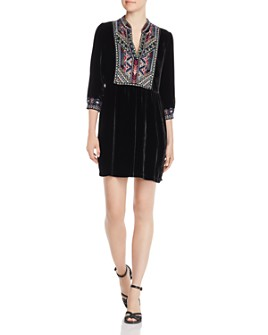 Johnny Was - Nemita Embroidered Velvet Dress