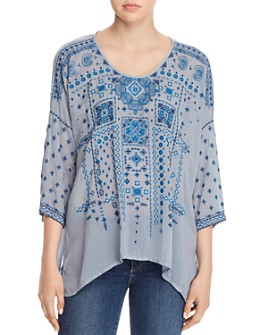 Johnny Was - Amaru Embroidered Blouse