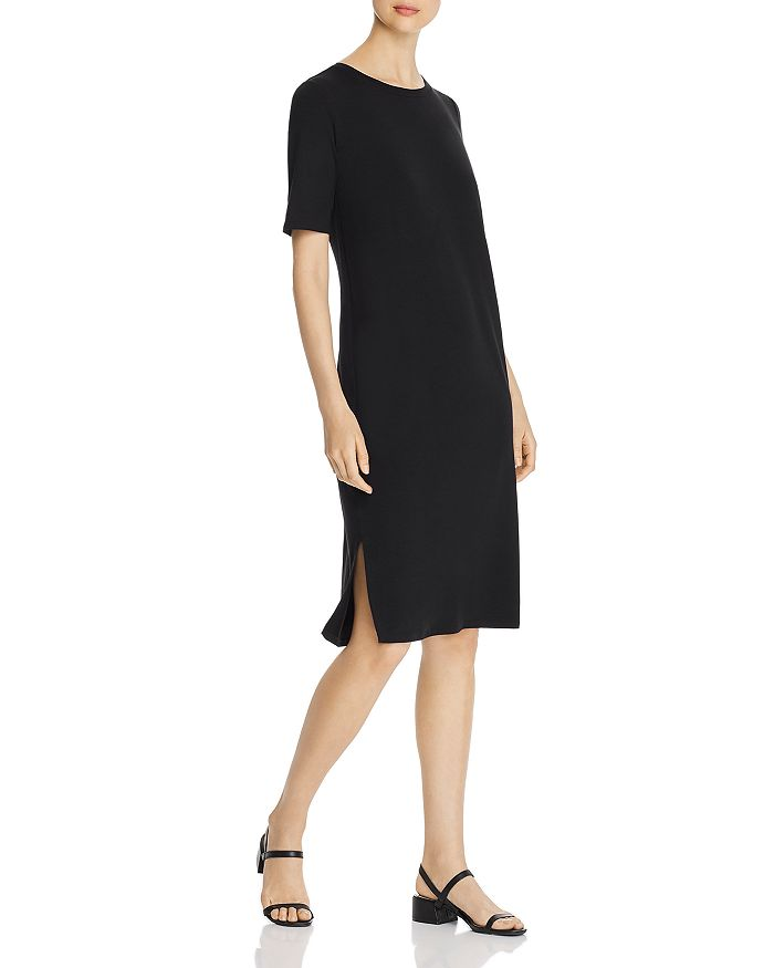 Eileen Fisher - Short-Sleeve T-Shirt Dress - 100% Exclusive