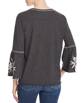 Johnny Was - Adele Embroidered Jersey Top