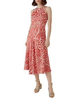 184ed14da1b KAREN MILLEN - Strappy Animal-Print Midi Dress ...