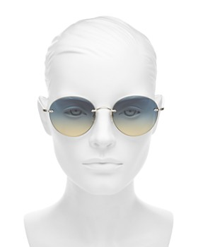 Oliver Peoples - Women's Coliena Rimless Round Sunglasses, 57mm