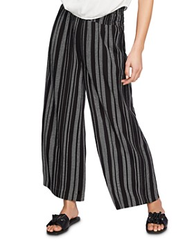1.STATE - Smocked-Waist Striped Pants