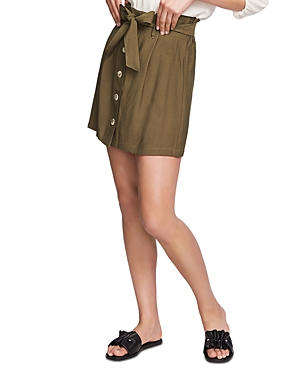 1.state Paperbag-Waist Tie-Front Skirt