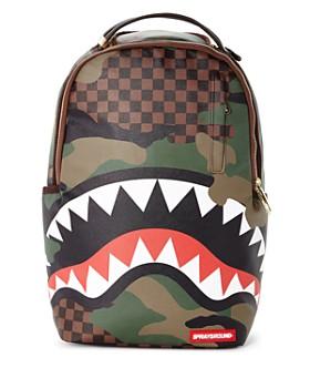 Sprayground - Boys' Checked Camo Shark Backpack