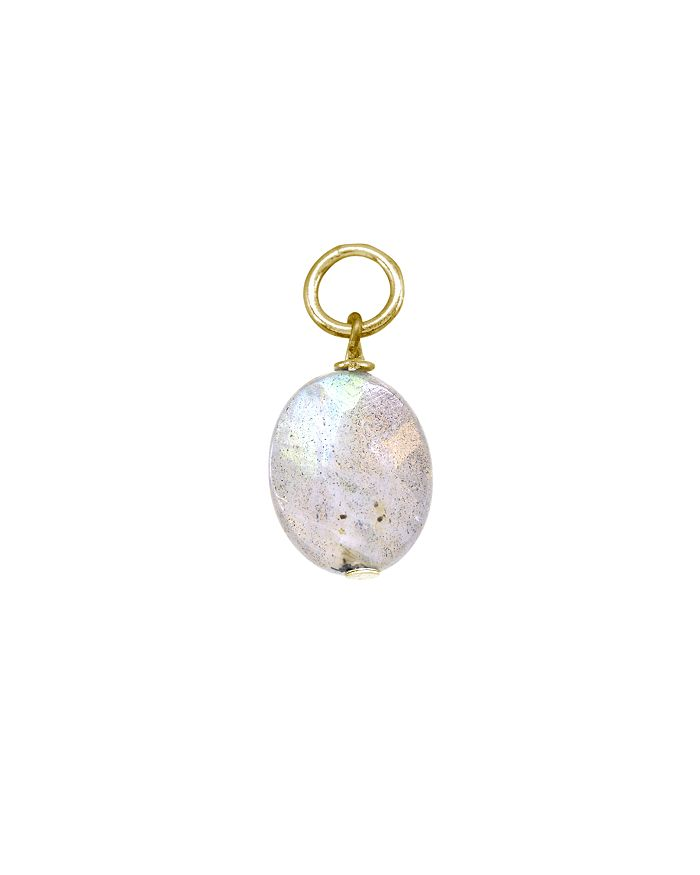 AQUA - Stone Ball Drop Charm in Sterling Silver or 18K Gold-Plated Sterling Silver - 100% Exclusive