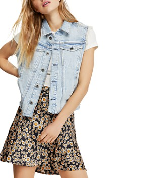 Free People - Zoe Frayed Denim Vest