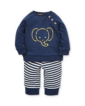 Little Me - Boys' Elephant Sweatshirt & Striped Jogger Pants Set - Baby
