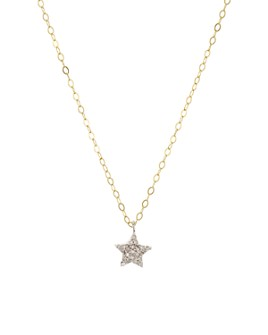 "Bloomingdale's - Diamond Star Pendant Necklace in Gold-Plated Sterling Silver, 15"" - 100% Exclusive"