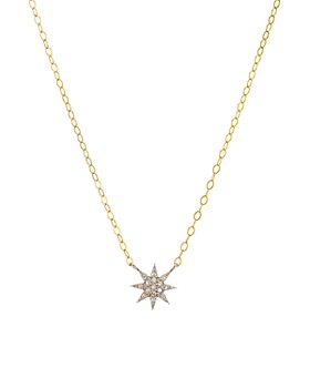 """Bloomingdale's - Diamond Starburst Necklace in Gold-Plated Sterling Silver, 15"""" - 100% Exclusive"""