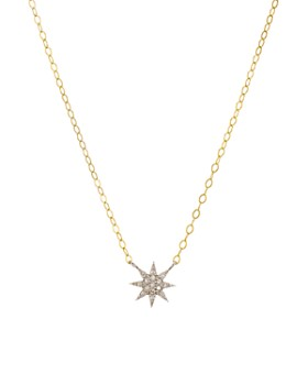 "Bloomingdale's - Diamond Starburst Necklace in Gold-Plated Sterling Silver, 15"" - 100% Exclusive"