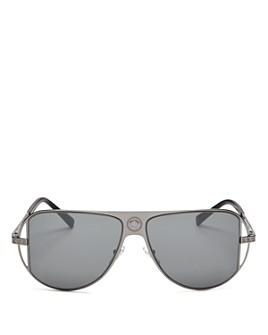 Versace - Unisex Mirrored Aviator Sunglasses, 57 mm